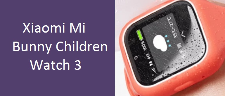 Смарт-часы Xiaomi Mi Bunny Children Watch 3