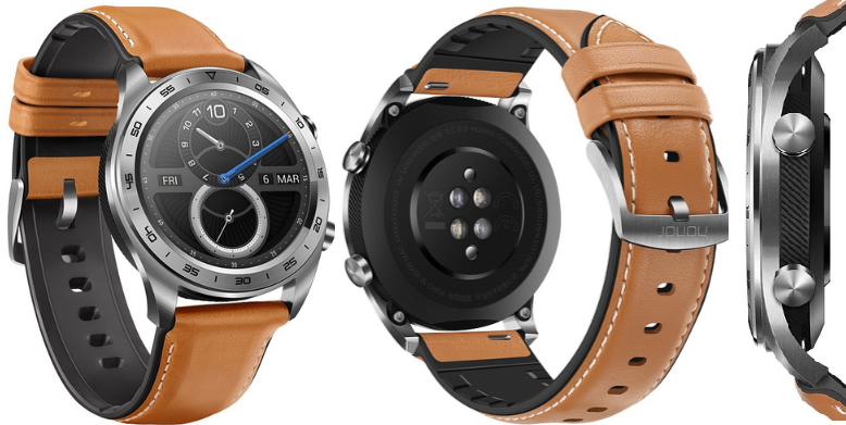 Часы Honor Watch Magic (stainless steel, leather strap)