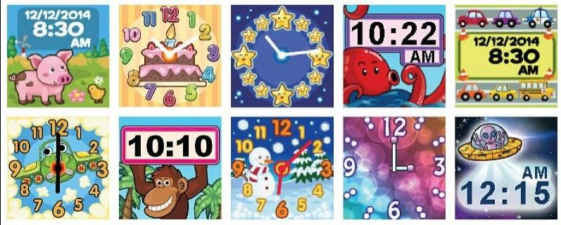 Детские Умные часы VTech Kidizoom Smartwatch DX - циферблаты
